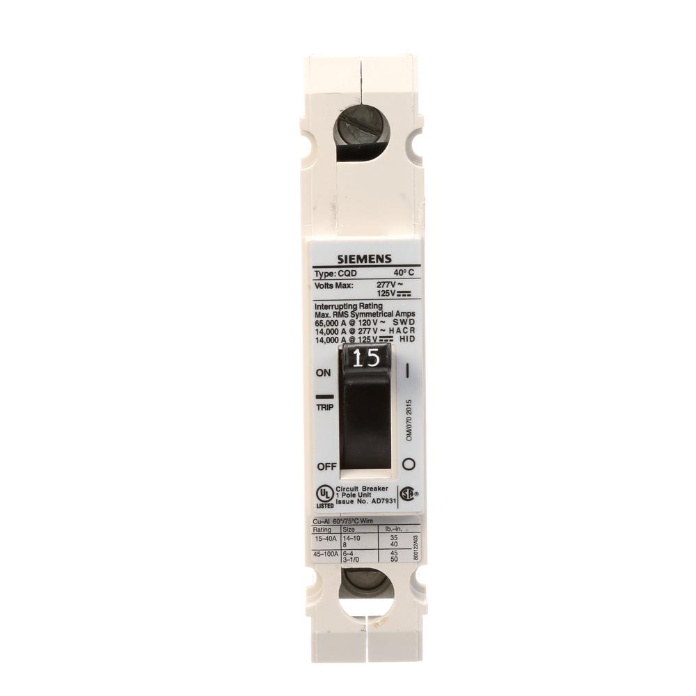 siemens 15 amp single pole type cqd cable in cable out din rail circuit breaker cqd115 the. Black Bedroom Furniture Sets. Home Design Ideas