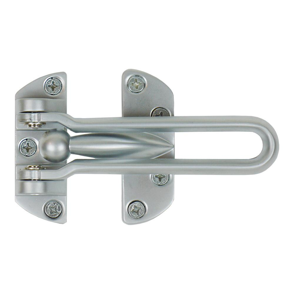Satin Chrome Swing Bar Door Security Guard