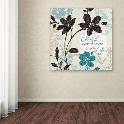 """24 in. x 24 in. """"Botanical Touch Quote I"""" by Lisa Audit Printed Canvas Wall Art"""
