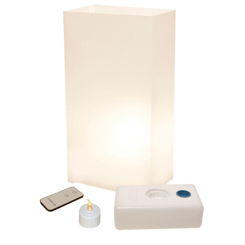 Lumabase LED White Luminaria Kit with Remote Control (Pack of 10)