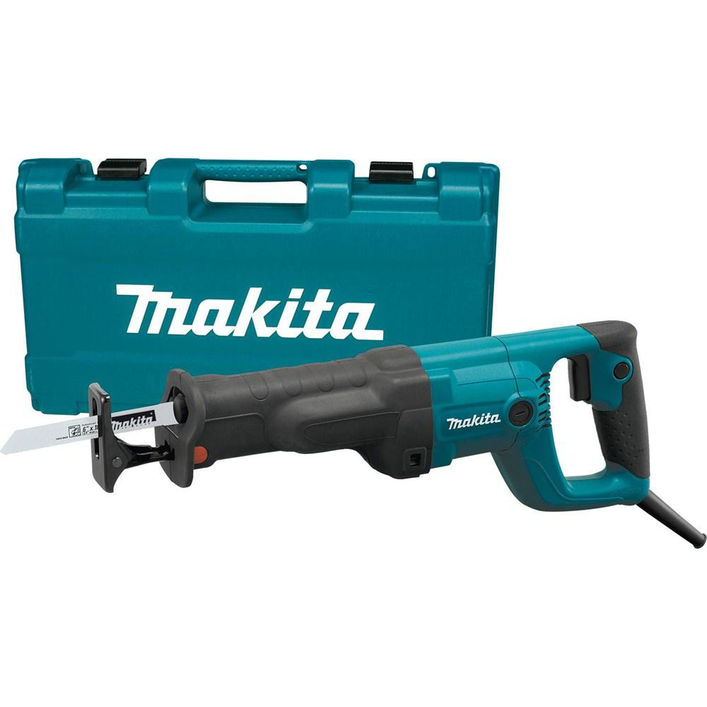 Makita 11 amp corded variable speed reciprocating saw with wood makita 11 amp corded variable speed reciprocating saw with wood cutting blade metal cutting blade greentooth Image collections