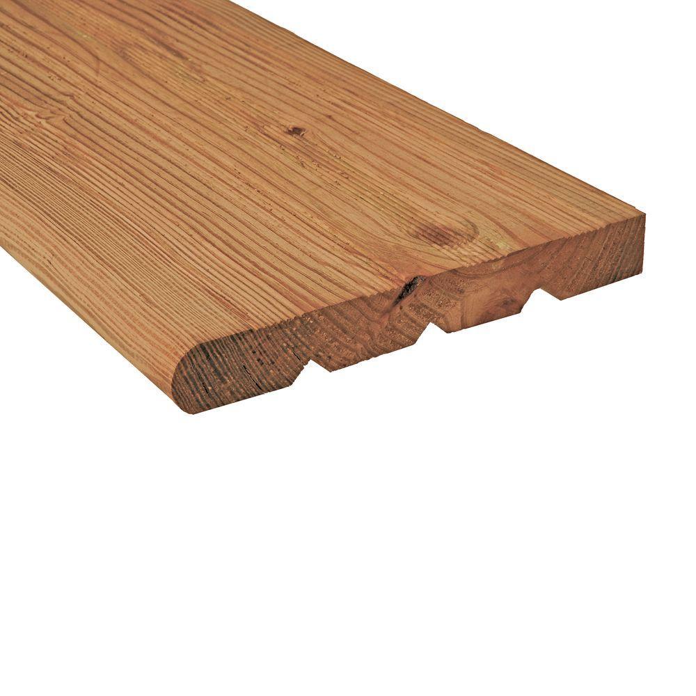 2 in. x 12 in. x 4 ft. Cedar-Tone Pressure-Treated Wood Step Tread