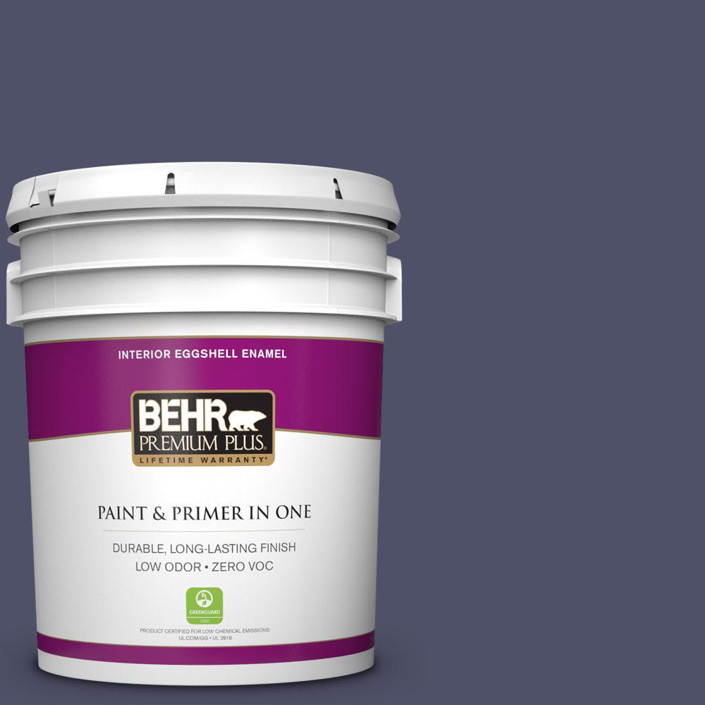 5 gal. #640F-7 Academy Purple Zero VOC Eggshell Enamel Interior Paint