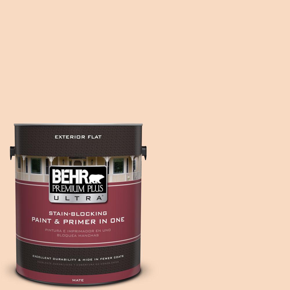 BEHR Premium Plus Ultra 1-gal. #M220-2 Pumpkin Essence Flat Exterior Paint