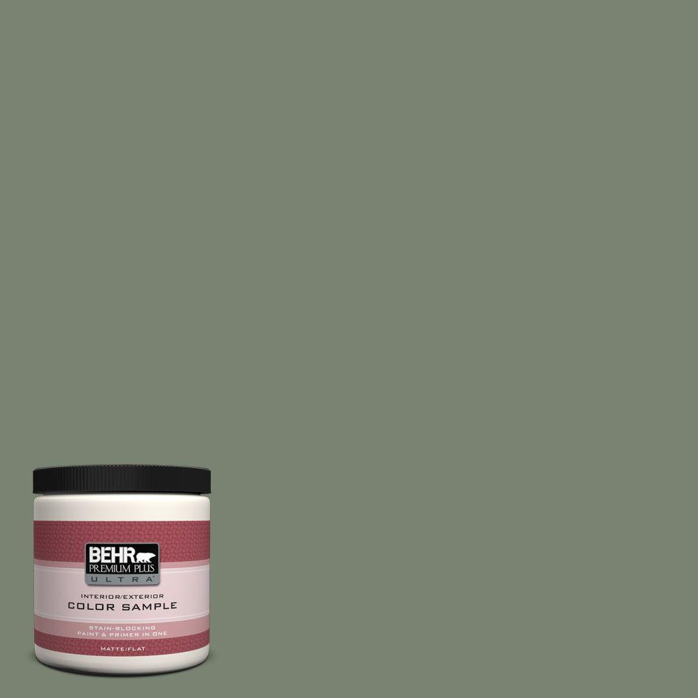 Behr Premium Plus Ultra 8 Oz Icc 77 Sage Green Matte Interior