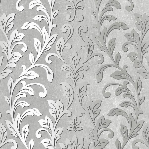 Norwall Silver Leaf Damask Wallpaper Tx34843 The Home Depot