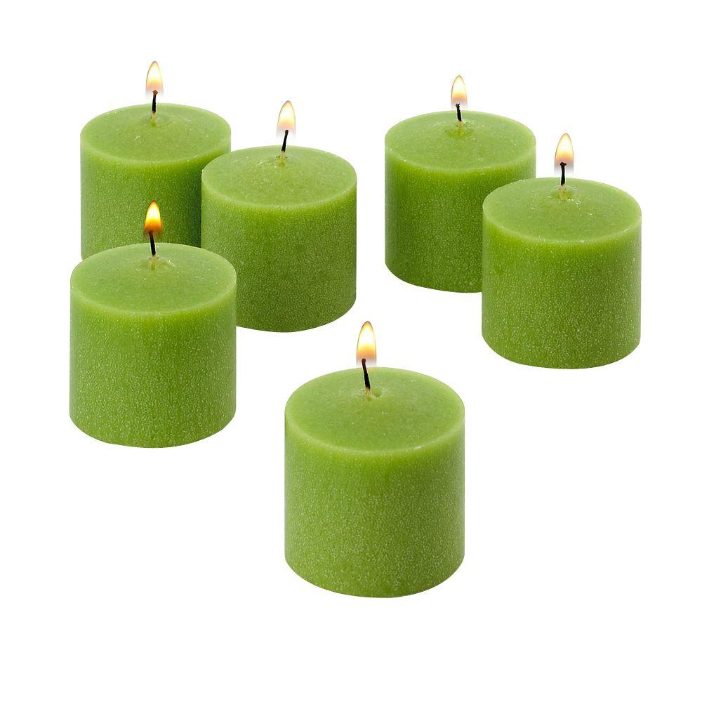 10 Hour Lime Green Unscented Votive Candle (Set of 72)