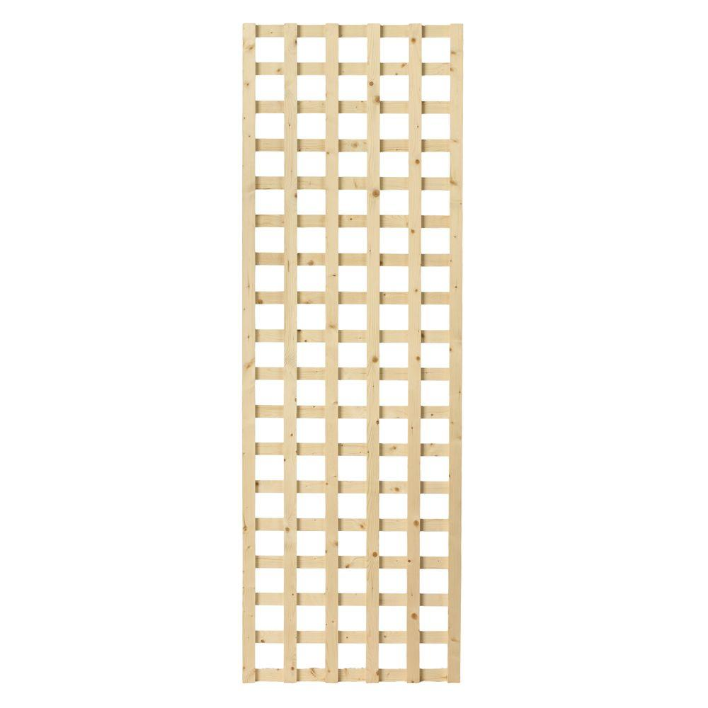 1-1/2 in. x 24 in. x 6 ft. Wood Square Lattice