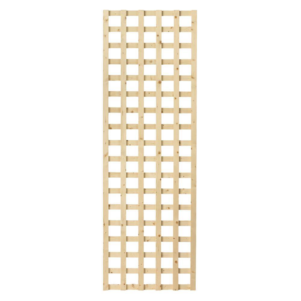 1-1/2 in. x 24 in. x 6 ft. Wood Square Lattice Screen