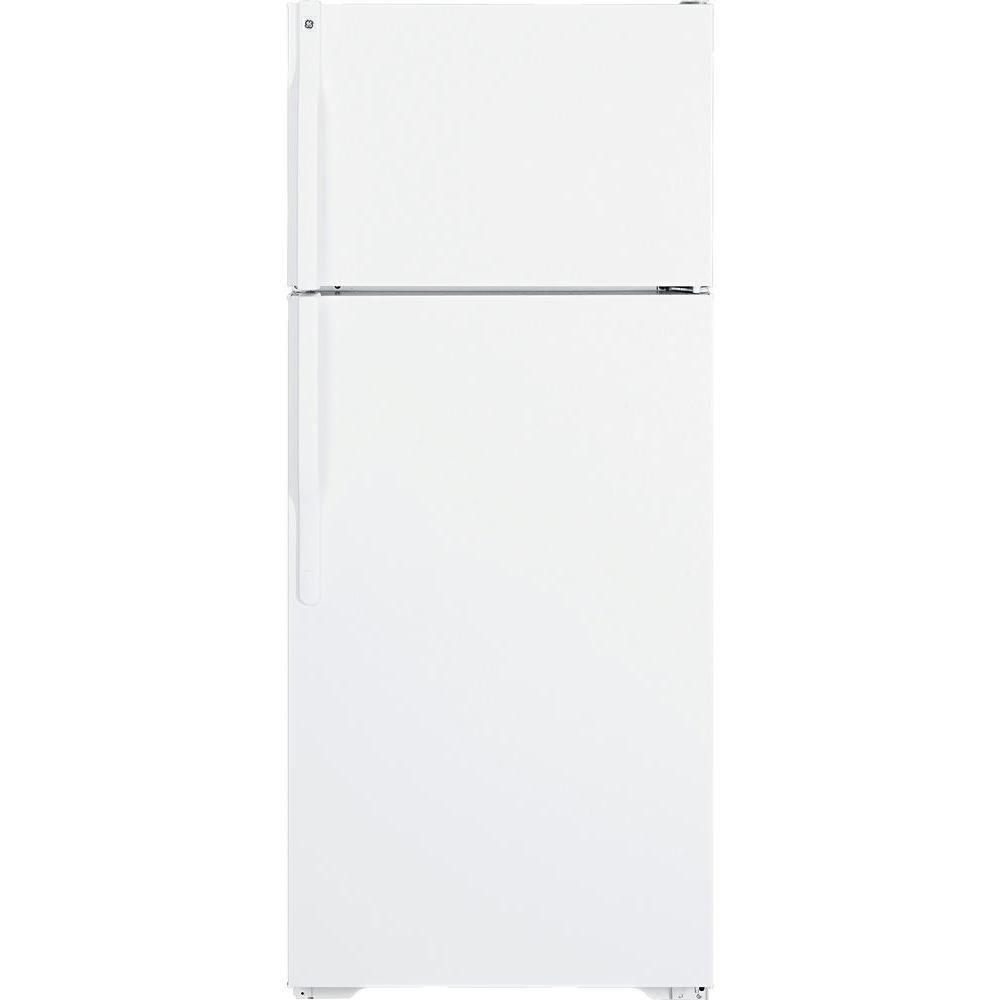 GE 18.1 cu. ft. Top Freezer Refrigerator in White