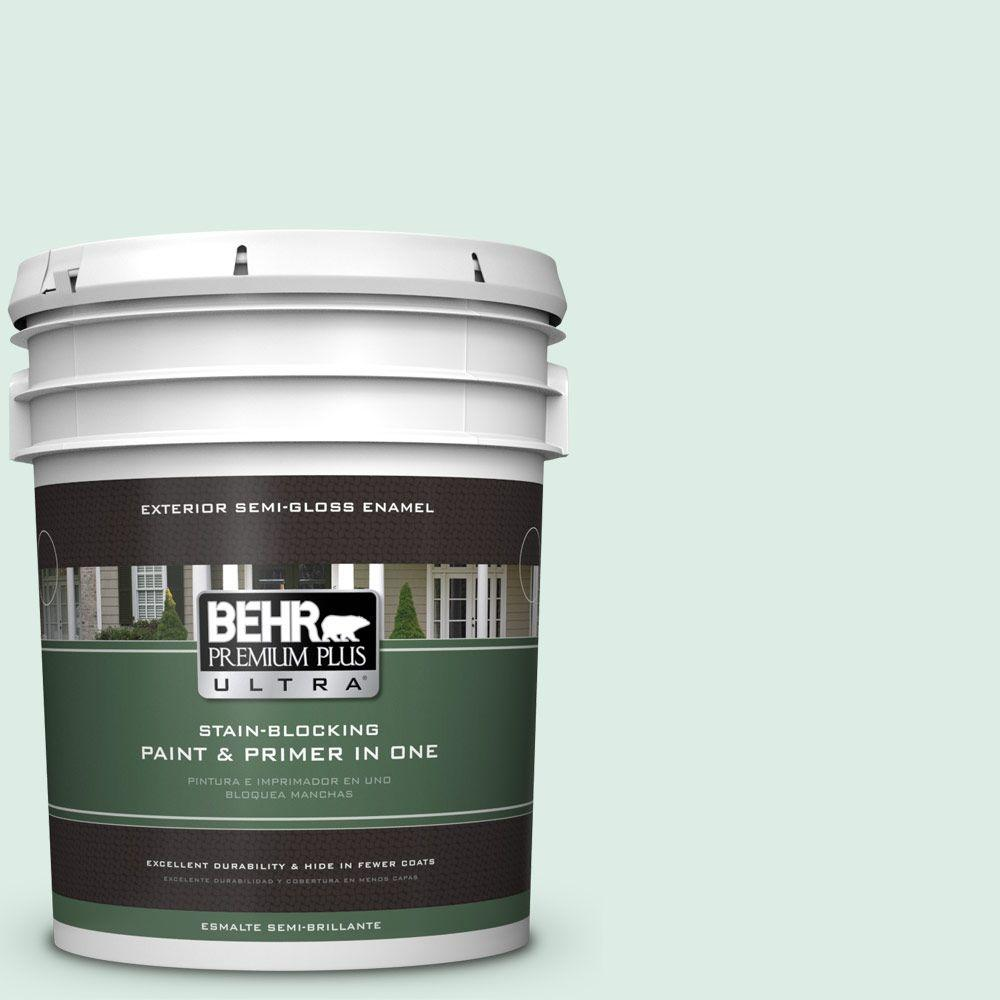 BEHR Premium Plus Ultra 5-gal. #M420-1 Sparkling Brook Semi-Gloss Enamel Exterior Paint