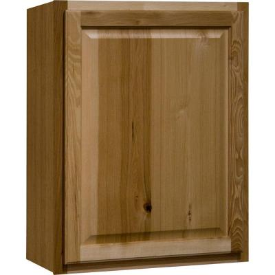 Hampton Assembled 24x30x12 in. Wall Kitchen Cabinet in Natural Hickory
