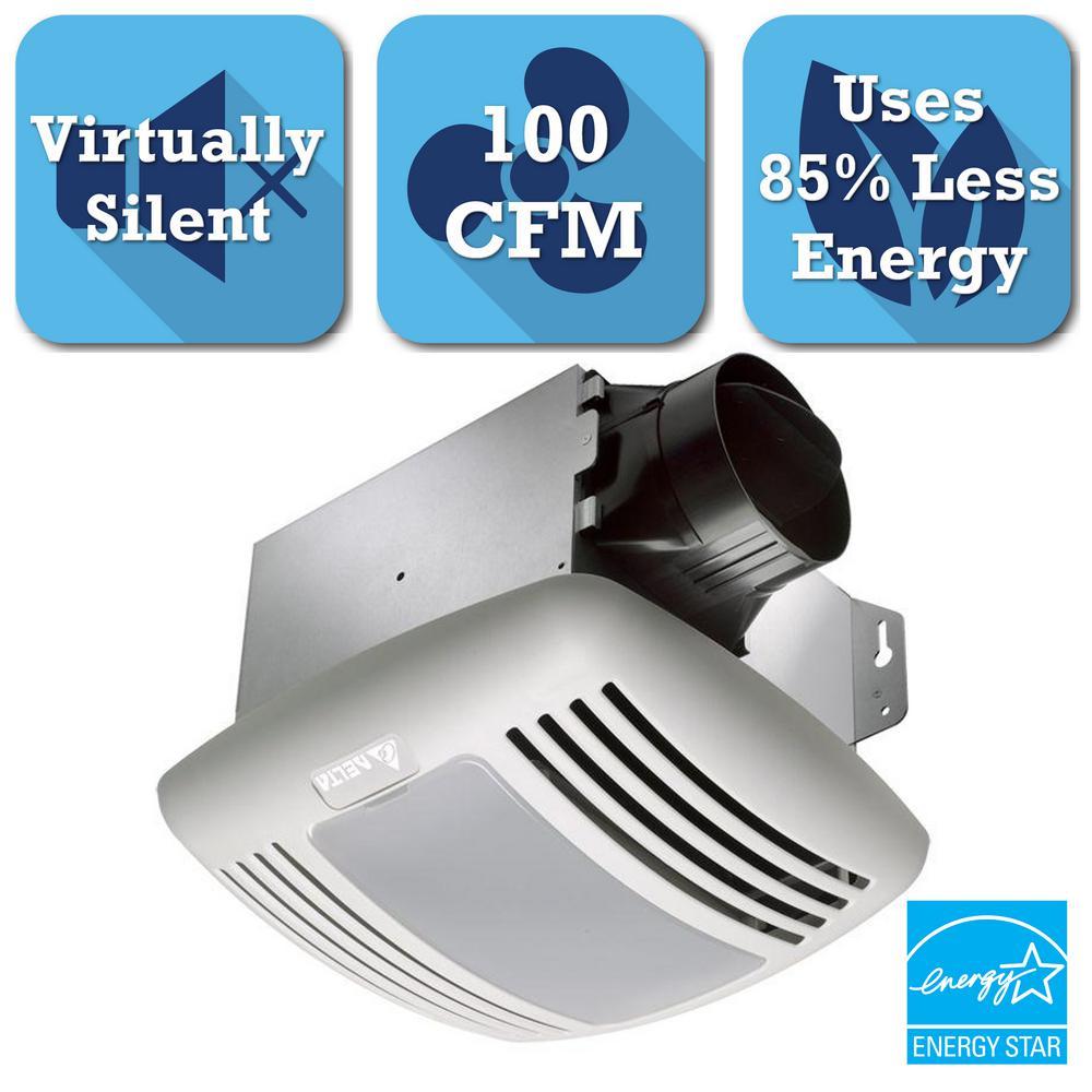 charming Delta Breez Greenbuilder Ventilation Fan With Led Light Part - 18: Delta Breez GreenBuilder Series 100 CFM Ceiling Bathroom Exhaust Fan with  Light, ENERGY STAR