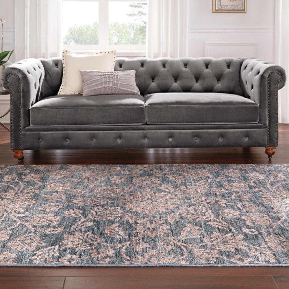 Gordon Grey Velvet Sofa