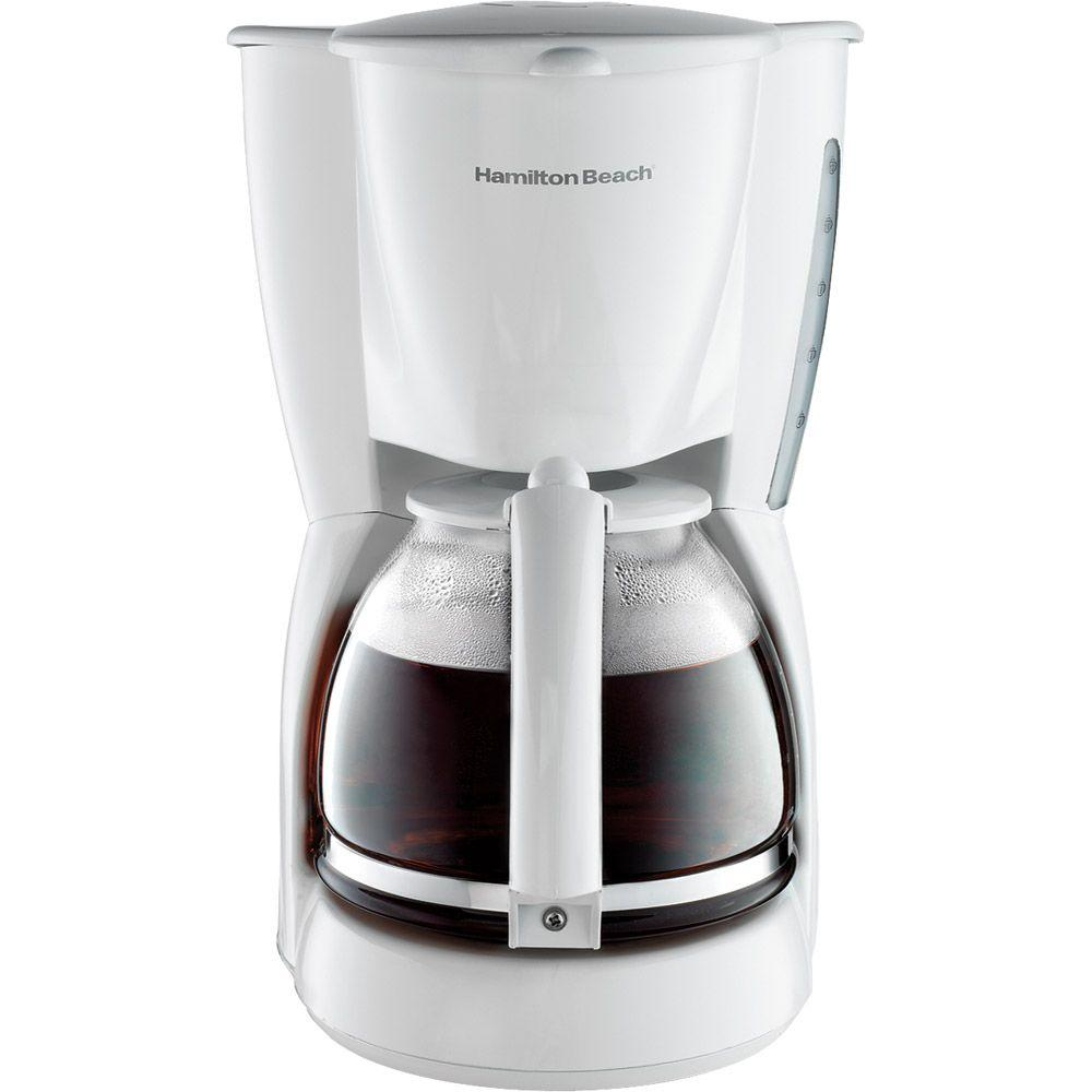 Hamilton Beach 12-Cup Coffeemaker With Cord Storage in White