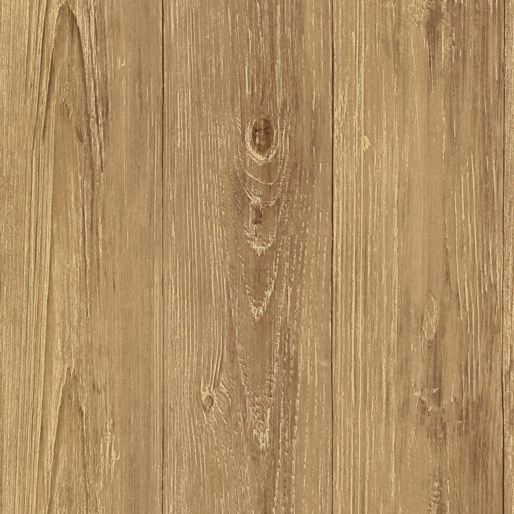 Cumberland Brown Faux Wood Texture Wallpaper
