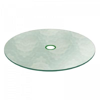 48 in. Aquatex Round Patio Glass Table Top, 3/16 in. Thickness Tempered Flat Edge Polished with 2-1/4 in. Hole