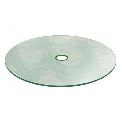 Aquatex Patio Glass Table Top 48 in. Clear Round 3/16 in. Thick Flat Tempered with 2-1/4 in. Hole