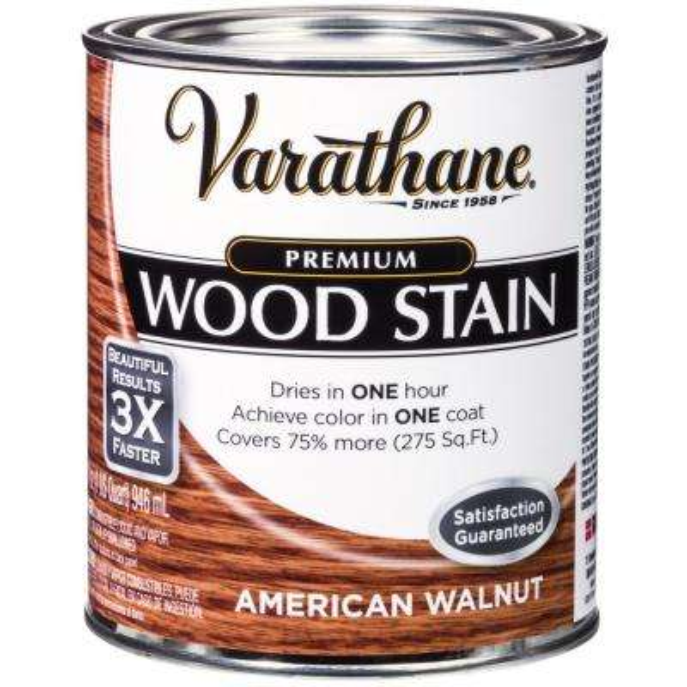 1 qt. American Walnut Premium Fast Dry Interior Wood Stain (2-Pack)
