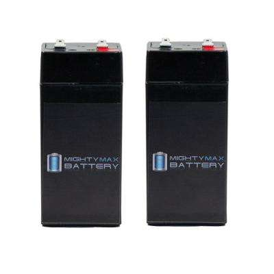 4-Volt 4.5 Ah SLA (Sealed Lead Acid) AGM Type Replacement Battery for Alarm/Security Systems (2-Pack)