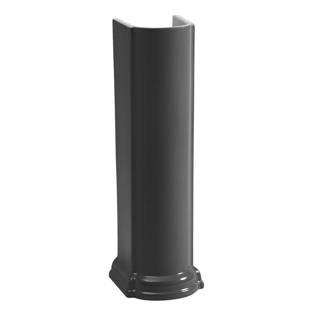 Devonshire Vitreous China Pedestal in Black Black