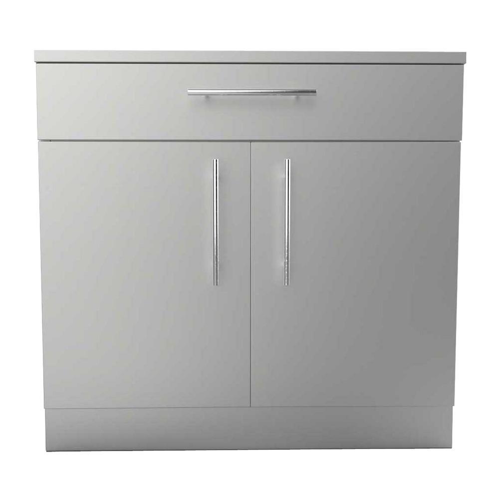 Sunstone Stainless Steel Double Door Base Cabinet Shelf Top Drawer