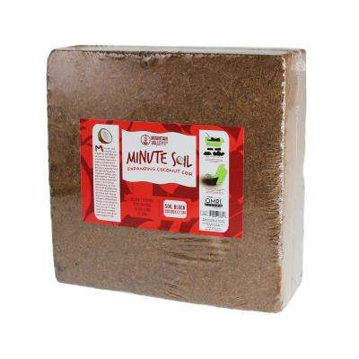 OMRI 15 Gal. Equal to 1 block Compressed Coco Coir Fiber Grow Medium Potting Soil (Approximately Wheelbarrow Full)