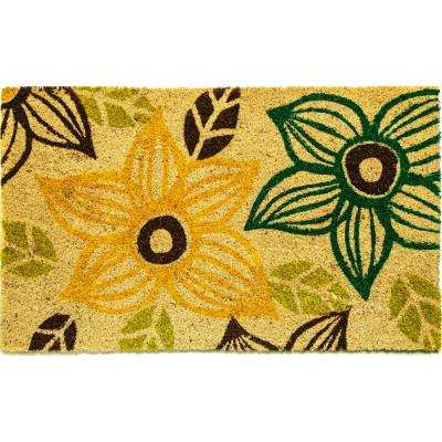 Aspen Multi Floral 18 in. x 30 in. Door Mat
