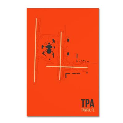 """16 in. x 24 in. """"TPA Airport Layout"""" by 08 Left Canvas Wall Art"""