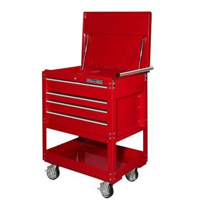32 in. 4-Drawer Deluxe Utility Cart in Red