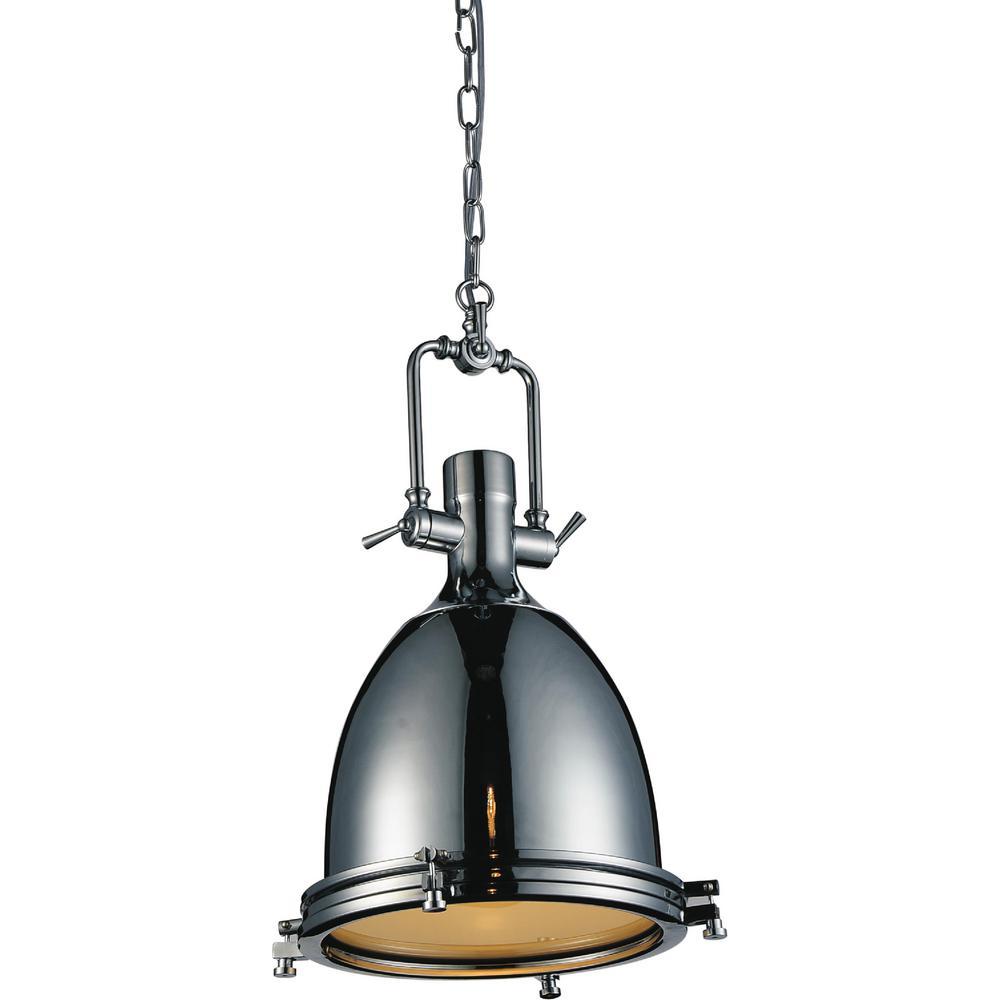 CWI Lighting Show 1-Light Chrome Pendant-9602P14-1-601 - The Home Depot