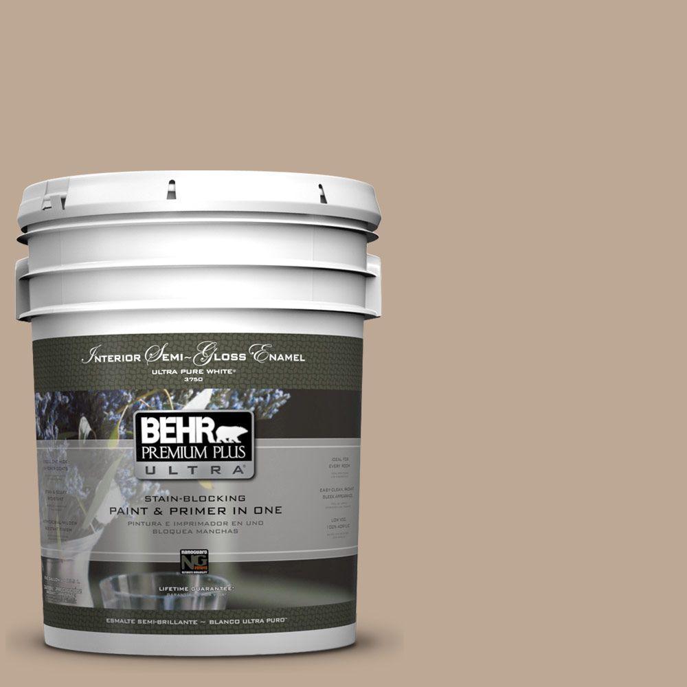 BEHR Premium Plus Ultra 5-gal. #700D-4 Brown Teepee Semi-Gloss Enamel Interior Paint