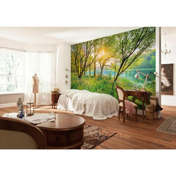 145 in. x 100 in. Spring Lake Wall Mural