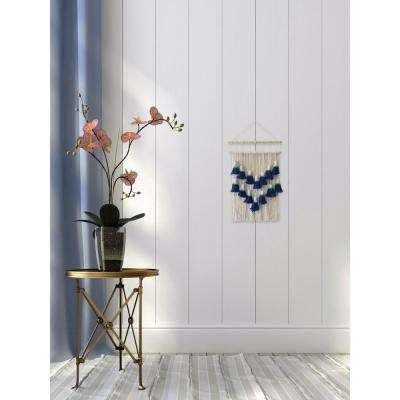 "Blue White ""Layered Macrame"" by Marmont Hill Wall Tapestry"