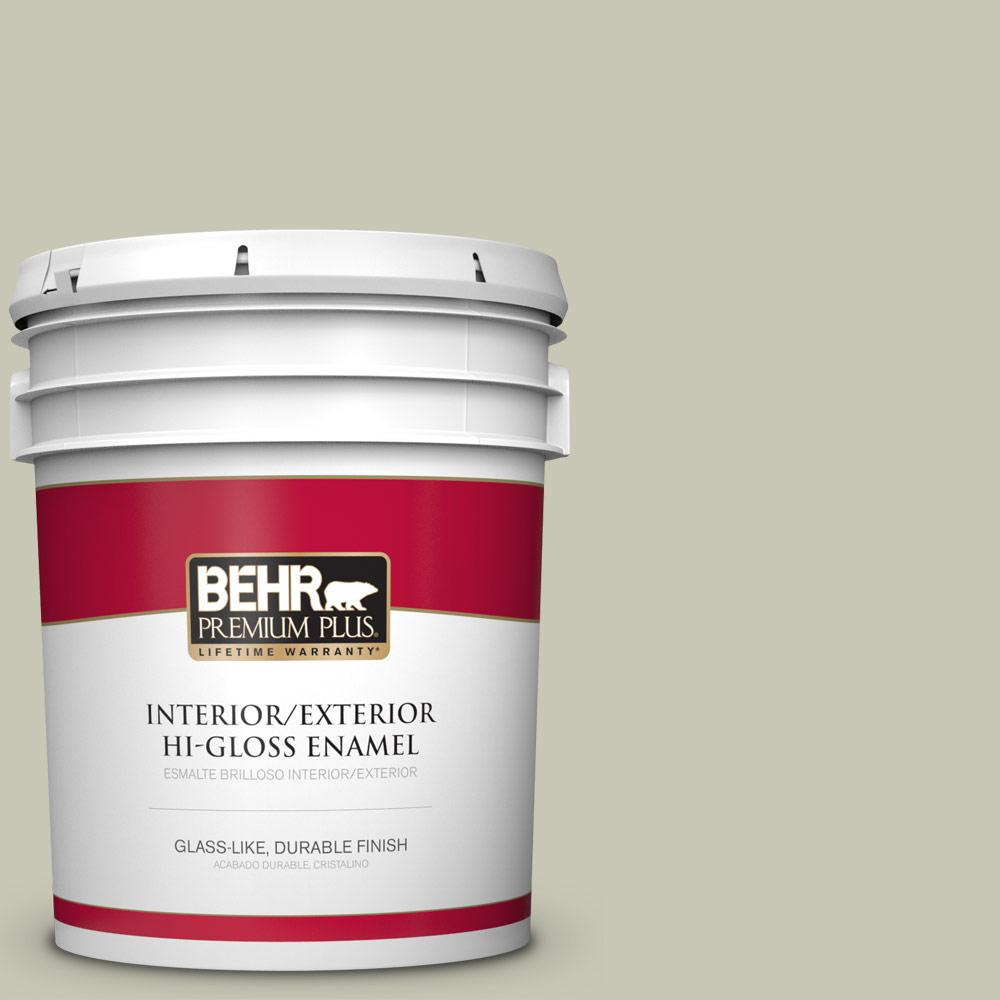 5 gal. #PPU10-10 Ocean Foam Hi-Gloss Enamel Interior/Exterior Paint
