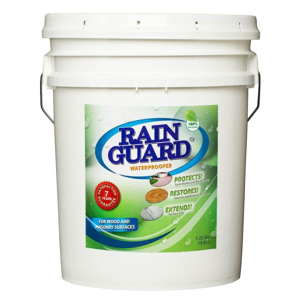 RAIN GUARD 5 gal. Wood and Masonry Waterproofer 7 year