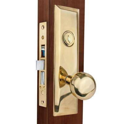 Bright Brass Mortise Lockset