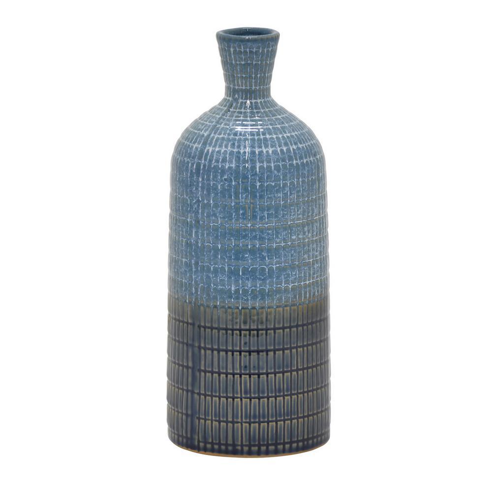 11 in. Ceramic Vase in Blue