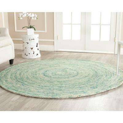 Round Green Area Rugs.4 Round Green Coastal Area Rugs Rugs The Home Depot