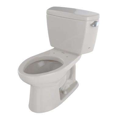 Drake 2-Piece 1.6 GPF Single Flush Elongated Toilet with Right Hand Trip Lever in Sedona Beige