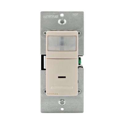 Decora Motion Sensor In-Wall Switch, Auto-On, 2.5 A, Single Pole, Light Almond