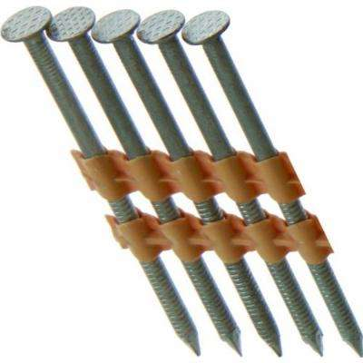 21-Degree 3-1/4 in. x 0.120 in. Plastic Strip Ring Shank 304 Stainless Steel Framing Nails (1,000 per Box)