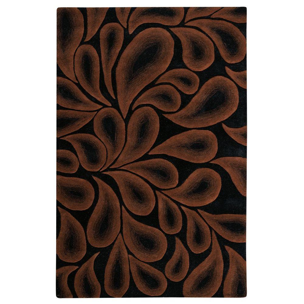 Home Decorators Collection Shadow Black and Brown 3 ft. 6 in. x 5 ft. 6 in. Area Rug