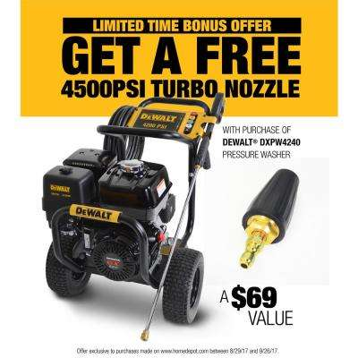 4200 PSI at 4.0 GPM Gas Pressure Washer Powered by HONDA with Bonus Turbo Nozzle