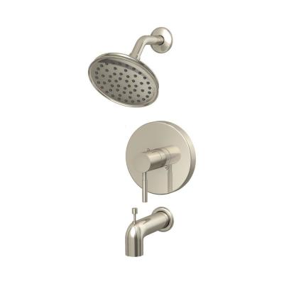 Metro Collection Single-Handle Tub and Shower Trim Kit in Brushed Nickel (Valve Not Included)