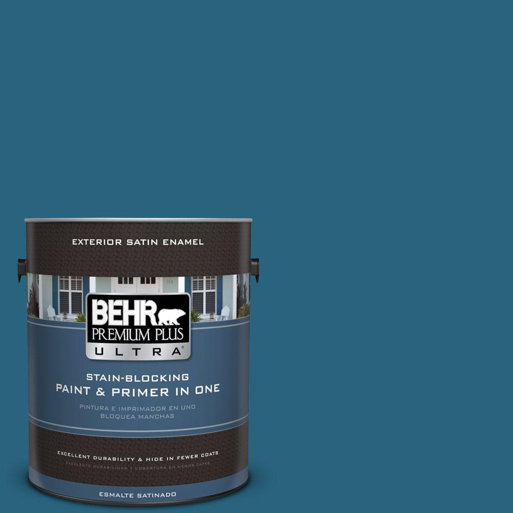 BEHR Premium Plus Ultra 1-gal. #550D-7 Southern Evening Satin Enamel Exterior Paint