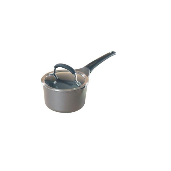 Pro Cast 1.5 qt. Cast Aluminum Nonstick Sauce Pot in Gray with Glass Lid