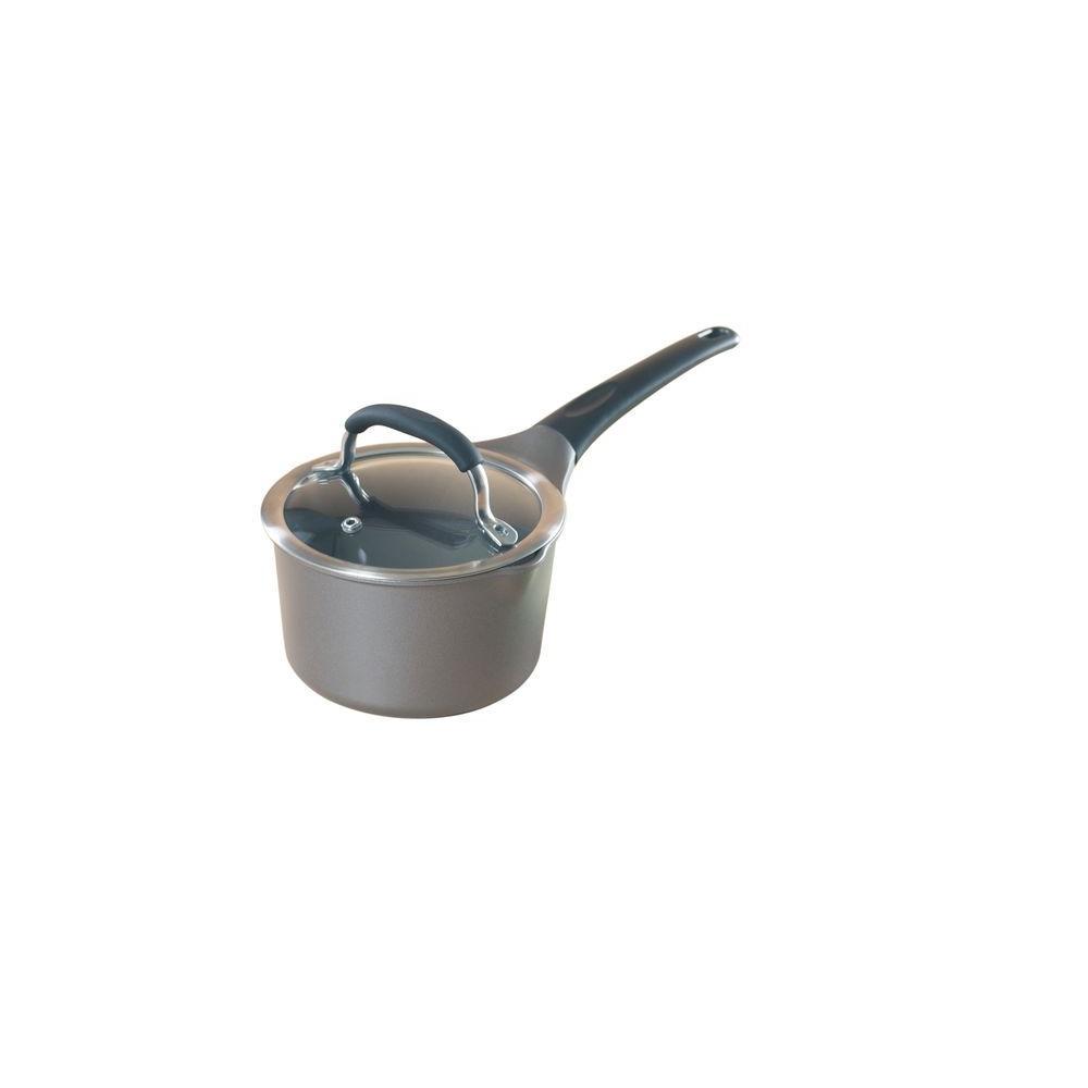 Nordic Ware Pro Cast 1 5 Qt Cast Aluminum Nonstick Sauce Pot In Gray With Glass Lid 21826m The Home Depot