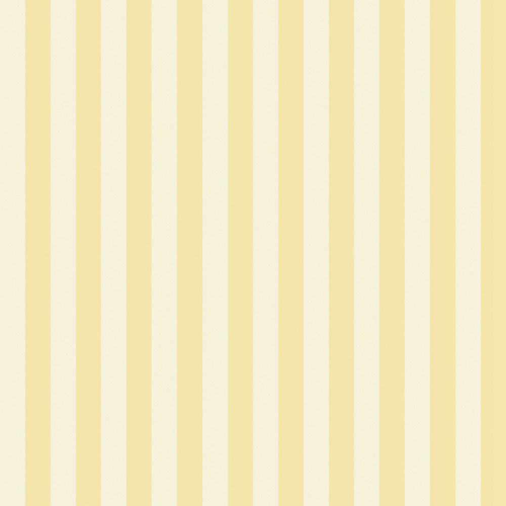 The Wallpaper Company 56 sq. ft. Yellow Pastel Slender Stripe Wallpaper