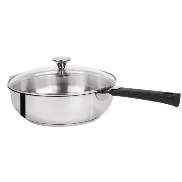 Tulipe 3.5 Qt. Stainless Steel Sauté Pan with Glass Lid